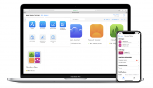 Photo of MacBook and iPhone showcasing App Store Connect