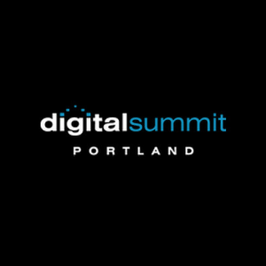 Digital Summit Portland Logo over Black Background