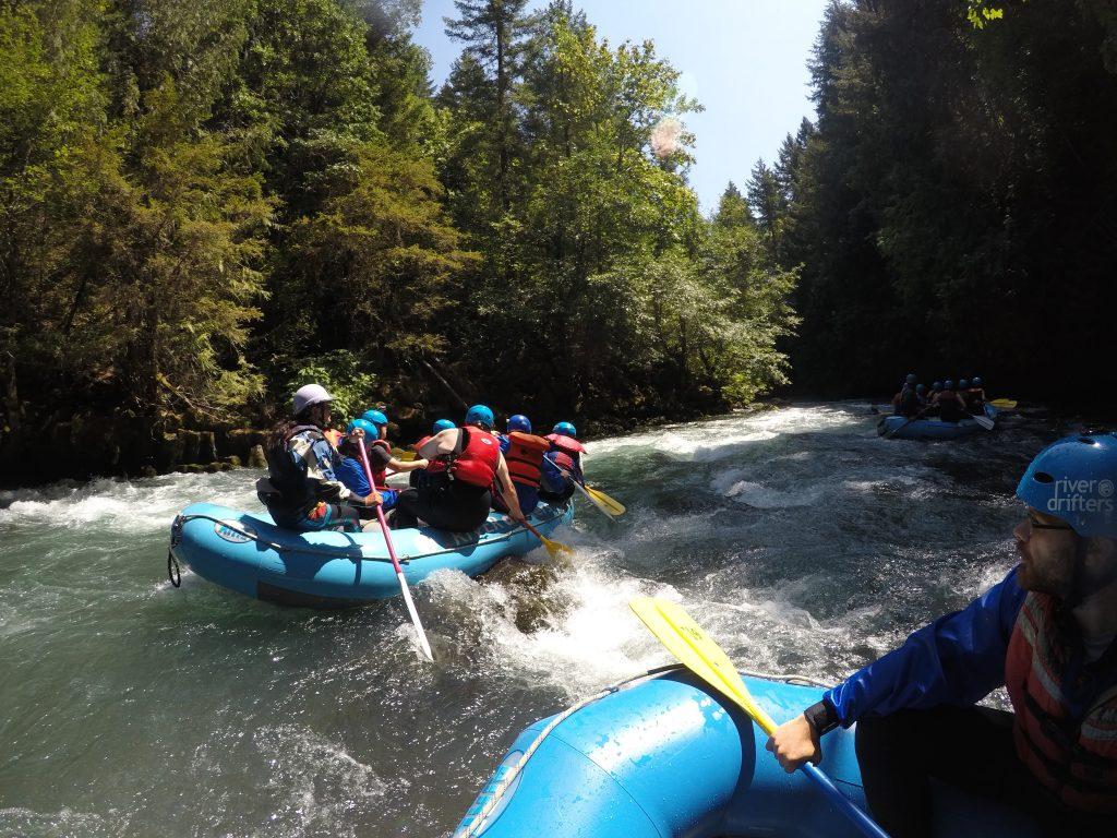 PLUS QA Team on White Water Rafting Company Trip