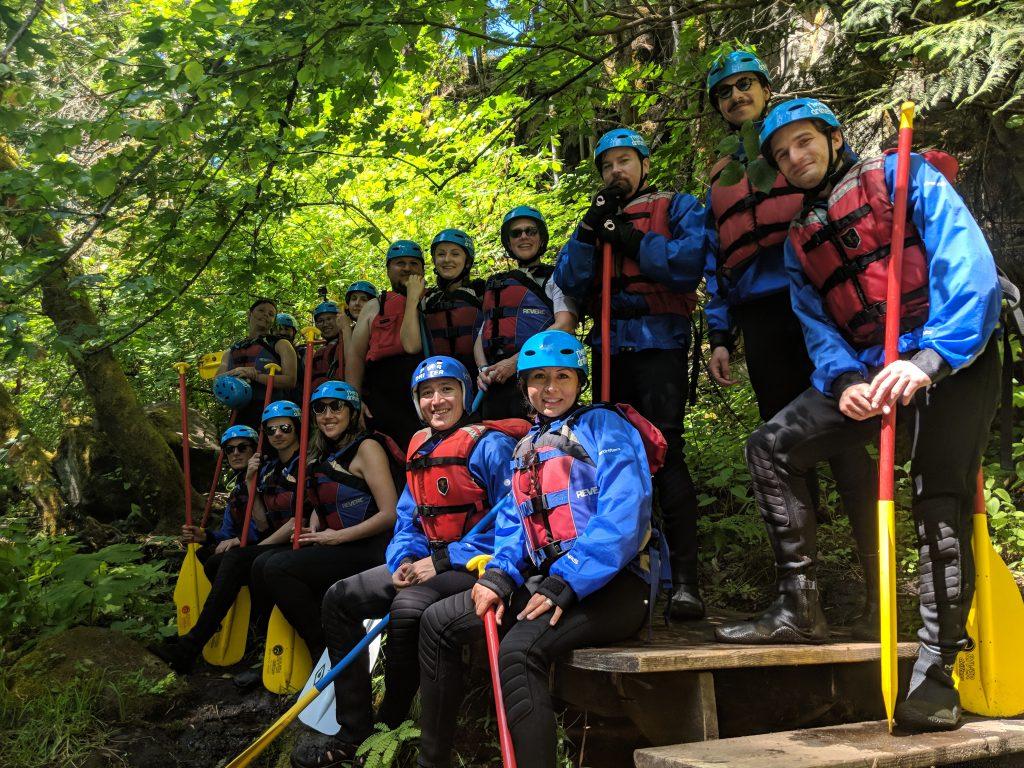 PLUS QA Team on White Water Rafting Trip