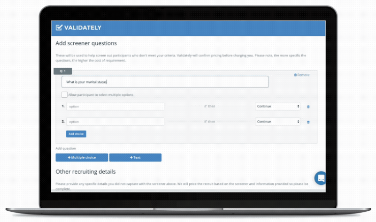 Screenshot of Validately usability testing platform