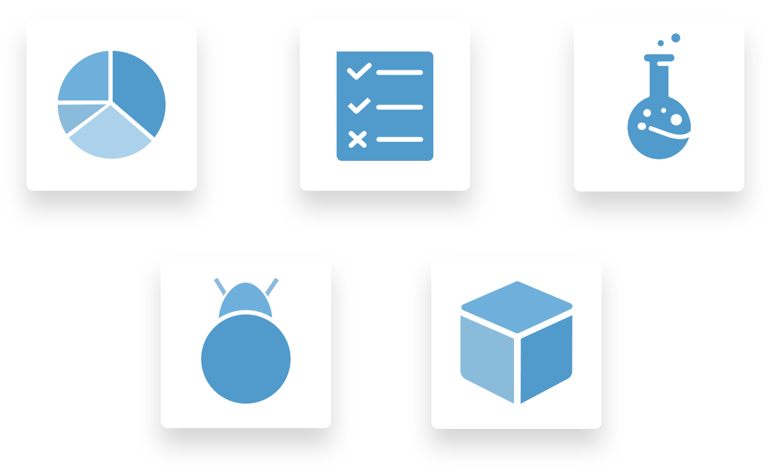 Icons for Dashboard, Bugs, Test Cases, Builds, and Device Lab