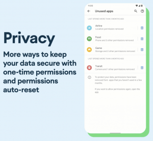 Privacy in Android 11