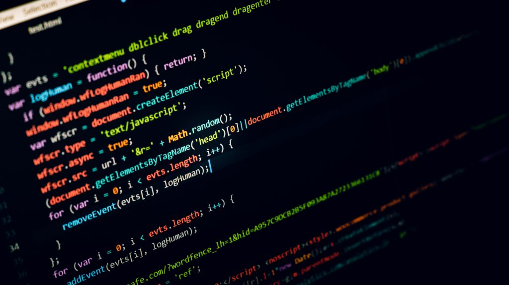 Test Automation code on a computer screen