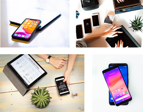 Collage of different devices and qa testing