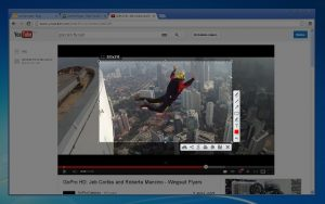 The Lightshot Screen Capture Chrome extension in action, instantly capturing a screenshot of a YouTube video.